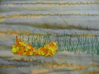 Gestickte Blumenbilder
